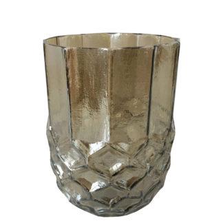 Teelicht braun Glas Zapfenform Eichelform Tannenzapfenform Teelichthalter Windlicht light and Living