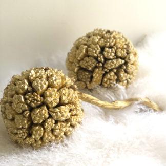 Kiya Frucht Ball gold Dekorationsball mit Naturfrüchten Dekoball NATURBALL DEKOBALL WEIHNACHTSDEKORATION WEIHNACHTEN