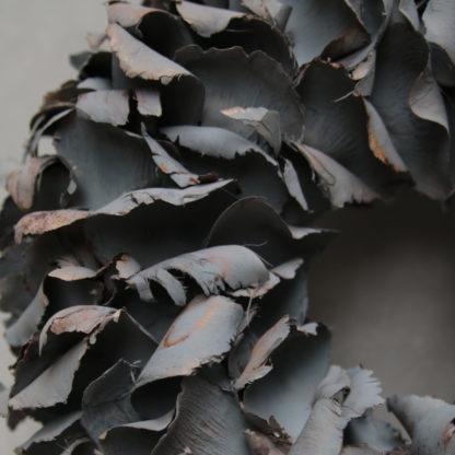 Kranz schwarz Naturkranz Palm Blatt Blätter Frucht Palm Frucht schwarz sehr edel Ø40 und Ø 55 cm aus Palm Blättern