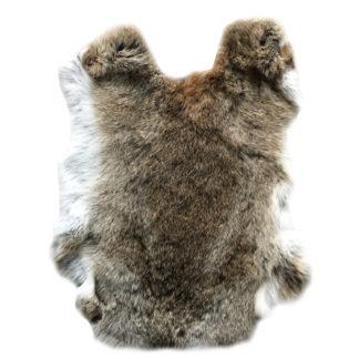 Hasenfell Dekofell Hase echt Fell Hase braun weiß Kaninchen Kaninchenfell echt Fell Rabbit Naturfell braun Ostern Weihnachten Osterfest Hase