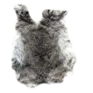 Hasenfell Dekofell Hase echt Fell Hase grau weiß Kaninchen Kaninchenfell echt Fell Rabbit Naturfell grau Ostern Weihnachten Osterfest Hase