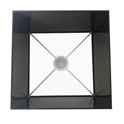 Lampenschirm schwarz quadratisch 15x25x19 aus Chintz-Stoff edel in Schwarz rechteckig