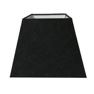Lampenschirm Stoff schwarz quadratisch