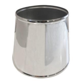 Lampenschirm silber Metall Edelstahl Lampenschirm Metall silber