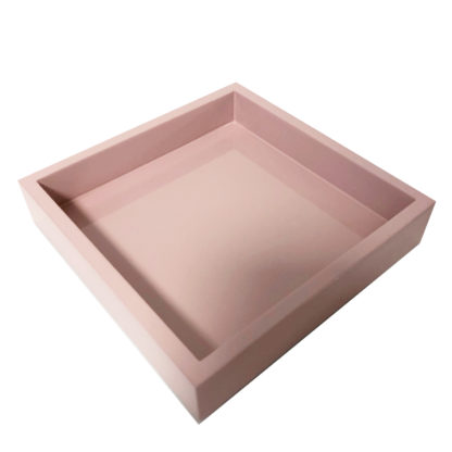 Tablett rosa Lack Lacktablett länglich rosa Tablett rosa feminin Luxuriöses Tablett Klavierlack gift company Serviertablett Deko-Tablett rosa schöne Geschenkidee für Mütter und Mädchen
