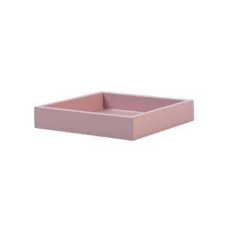 Tablett rosa quadratisch Lack Lacktablett 19x19x3 cm Vide-Poch rosa Spa Tablett rosa feminin Luxuriöses Tablett Klavierlack gift company