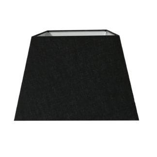 Lampenschirm schwarz vierkant quadratisch edel Lampenschirm schwarz vierkant Stoff Baumwolle für Tischleuchte Licht Tischlampe
