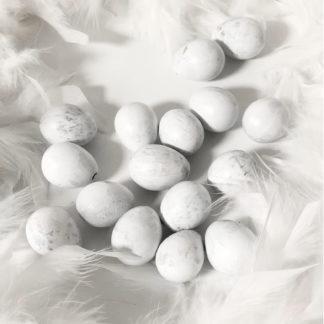 Wachtelei Wachteleier weiß marmoriert Osterei Ei Dekoei weiß Marmor-Optik Osterdekoration Osternest Ostern