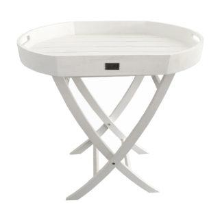 BEISTELLTISCH Tablett-Tisch weiß Servier-Tisch weiß klappbar Butler-Tisch Beistelltisch mit abnehmbarem Tablett Shabby chic Landhaus SOMMERTABLETT SYLT-STYLE SOMMER