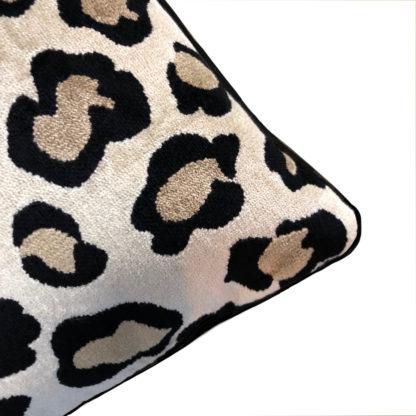 KISSEN LEOPARDEN MUSTER SAMT HOCHWERTIG LEOPARDENKISSEN TIGERKISSEN TIGERMOTIV PANTER KISSEN FAIZA VON LIGHT & LIVING DSCHUNGEL SAFARI STYLE DEKORATION TIGER LEOPARD LÖWE Panther Animal Print