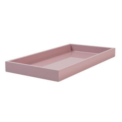 Tablett rosa Lack Lacktablett Vide-Poch rosa Spa Tablett rosa feminin Luxuriöses Tablett Klavierlack gift company Serviertablett Dekotablett Tisch-deko Badezimmer Deko