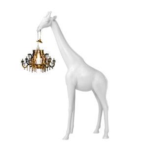 Bodenleuchte Giraffe in love Leuchte in Form von einer Lampe weiß von qeeboo Leuchte Motiv Girfaffe