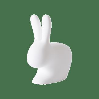Qeeboo rabbit chair Hasen-Stuhl von qeeboo weiß auch in verschiedenen Farben Hasenstuhl weiß rosa hellgrau taupe Gartenstuhl Außenbereich Deko-Objekt Hase + Stuhl und als Tüstopper