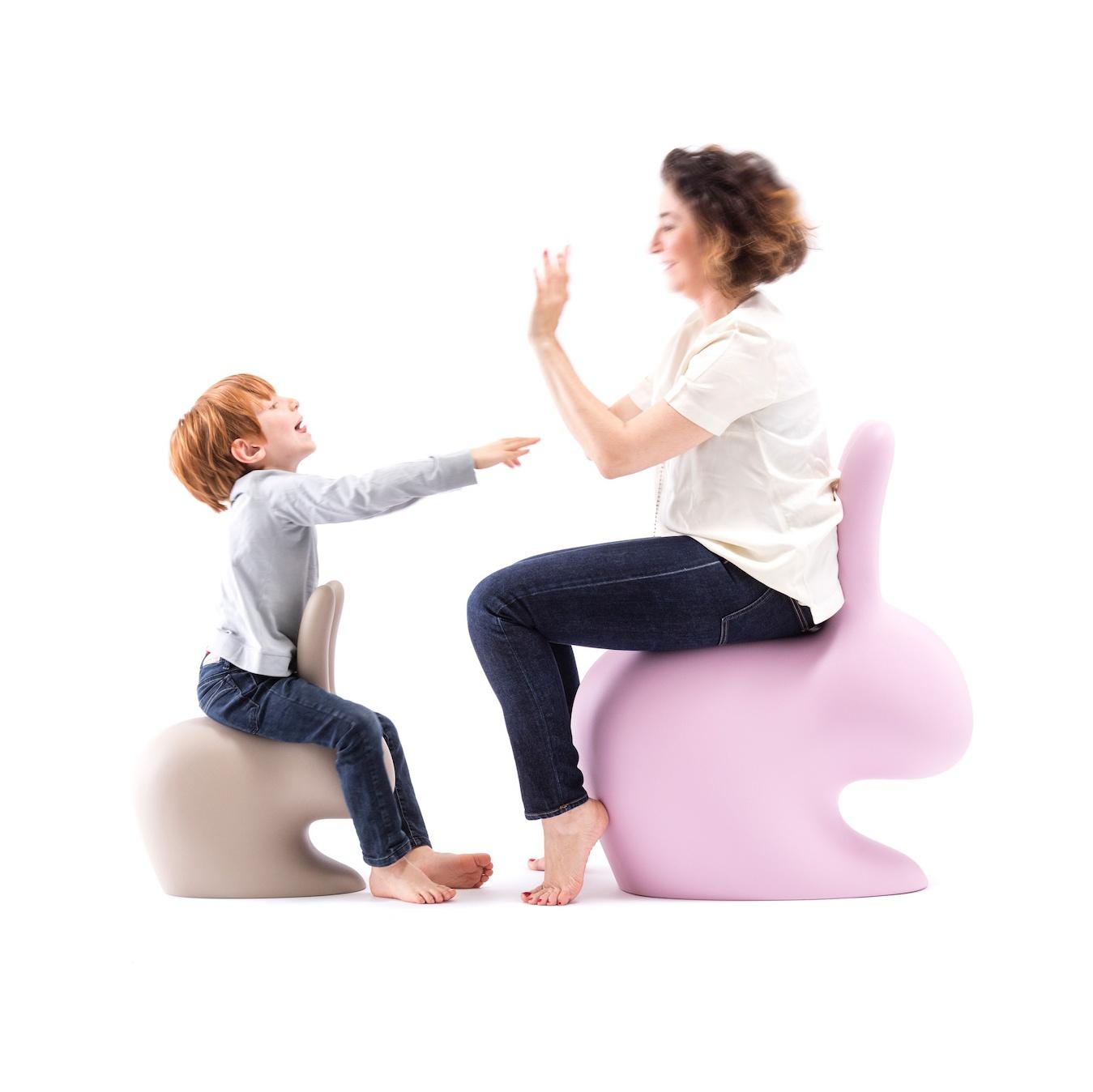 Dekofigur Hase Rabbit Chair Qeeboo Baby Hasenstuhl Rosa Pink