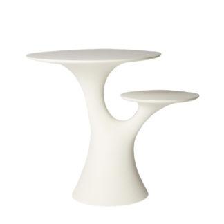 Qeeboo rabbit tree Tisch weiß Gartentisch weiß Beistelltisch weiß rund Form eines Baumes Garten Sommer Sommermöbel Gartenmöbel