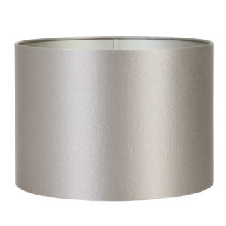 LAMPENSCHIRM SILBER TAUPE SATIN KALIAN SILBER LEVER VON LIGHT & LIVING LICHT LAMPE TISCHLAMPE
