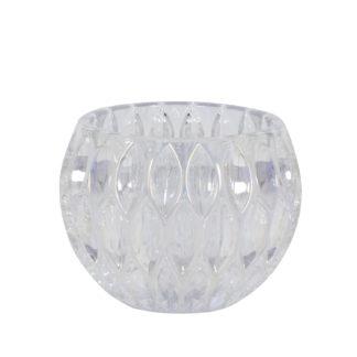 Teelicht-Halter silber metallic aus Glas Teelicht Glas weiß silber metallic von light and Living Teelicht Royon XL Licht Leuchtenschein Dekoration Dekoartikel Teelicht
