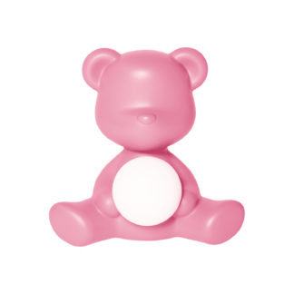 Tischleuchte Lampe teddy girl rosa pink Kinderzimmer Leuchte Teddybär rosa pink von qeeboo Kinderzimmer Kinder Spielen Teddybär Leuchte