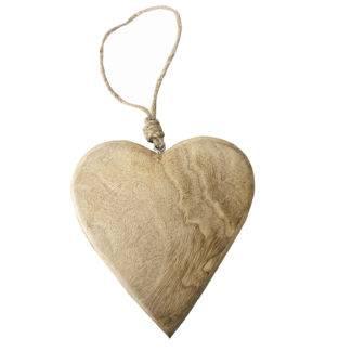 Herz Aufhänger Holz Shabby chic Herz Hänger Holz beige natur ein Herz schenken Liebe Herz Deko-Artikel Holzherz Herz