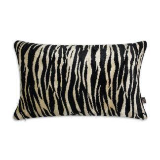 Kissen Zebra Tiger schwarz weiß beige gold Dekokissen Muster Zebra Tiger Samt und Leinen Luxus Kissen animalprint Dschungel Safari Dekoration