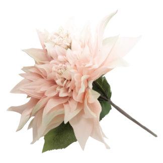 Kunstblume Blume Dahlie rosa weiß pink wie echt Seidenblume Blumenstrauß edel 56 cm Blumen für Muttertag schenke Blumen Dekoration