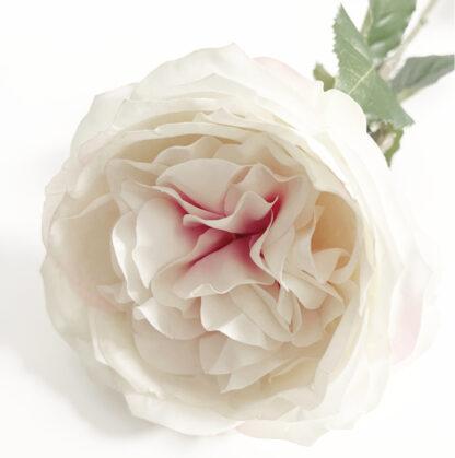 Kunstblume Rose weiß rosa edel Stoffblume Blumenstrauß Blume Rosenstrauß