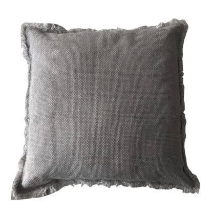 Leinenkissen 100% Baumwolle Leinen Dekokissen Leinen in weiß grau taupe beige Sand Ton 45x45 cm mit Inlett Sommerkissen shabby chic Kissen Leinen