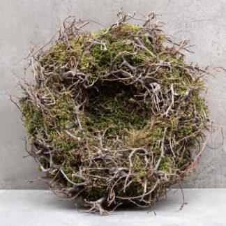 Naturkranz Nest Osternest Moos Äste Zweige Ostern Osterdekoration Moos Kranz Mooskranz Rebenkranz