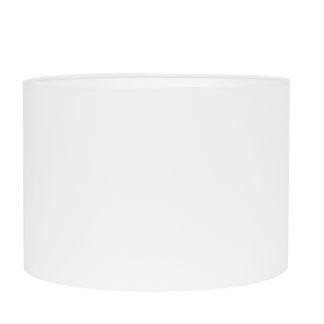 Lampenschirm weiß rund 30x30x17 cm Colmore Lampenschirm Stoff weiß XL innen Kunststoff transparent
