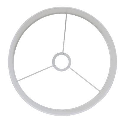 Lampenschirm weiß rund Polycotton von Light and Living weißer runder Lampenschirm außen Stoff in weiß Licht Tischlampe weiß