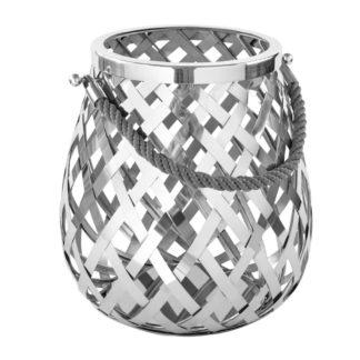 Windlicht Laterne silber Metall Otis von Fink 159211 von der Marke Fink mit Glaseinsatz
