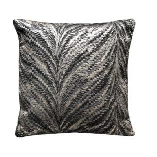 Kissen grau schwarz silber gold Luxur Glimmer Luxuskissen von Steen design Dekokissen