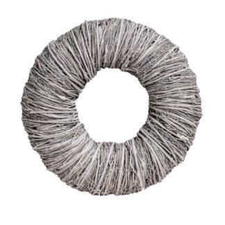 Kranz Naturkranz grau weiß Rebenkranz Wurzelkranz Türkranz Tischkranz grau weiß Fensterkranz Wandkranz grau weiß gekalkt 45 cm Tagum Kranz