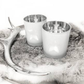 Teelicht Teelichthalter weiß grau Glas Stern 10 cm von Kaheku Teelicht Kanye Stern grau Teelichter Teelichthalter Windlicht weiß grau Lichtglanz Tischdekoration
