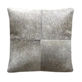 Kissen Kuhfell grau Ton 50 cm quadratisch echt Fell Kissen Leder Kissen Kuhfell cushion cowskin grey Sofakissen Dekokissen Kuhfell