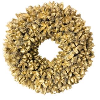 Naturkranz Dekokranz gold Gitter Kastanien Kartoos Frucht