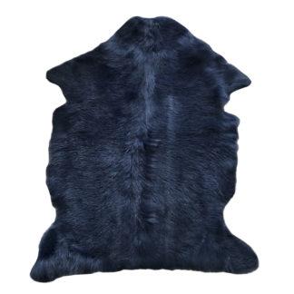 Ziegenfell echt Fell blau dunkel blau marine blau Ziegenfell Vorleger Teppichvorleger Überwurf blau Ziegenfell Dekoration
