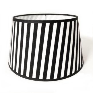 Lampenschirm schwarz weiß gestreift fein gestreift Stoff rund edel schwarz weiß 20 cm 35 cm Lampenschirm für verschiedene Lampenfüße Licht Wohnzimmerdekoration Luxury