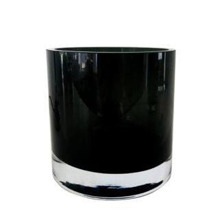 Teelicht Teelichthalter schwarz smoke dickes schweres Gas Lichtdekoration Windlicht Schwarz Glas kleine Vase Dekolieblinge