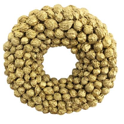Naturkranz gold Glitter Sant Frucht fruit Türkranz Wandkranz Weihnachtskranz gold Glitter edel Weihnachtsdekoration Osterkranz Ostern Weihnachten Tischkranz gold
