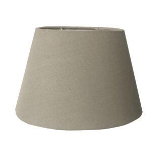 Lampenschirm beige sand oval edel Stoff Lampenschirm Leinen