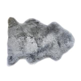 Neuseeland Lammfell grau platinum silber echt Fell grau Kuschel Fell Sheepskin grey