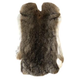 Kaninchenfell Hasenfell extra weich braun weiß Naturfell echt Fell Luxus Fell Osterdekoration Weihnachtsdekoration edel weich XXL groß