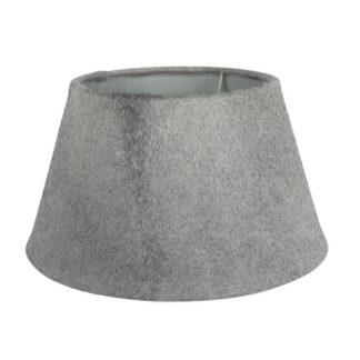 Lampenschirm Kuhfell echt Fell grau echt Leder grau für Tischlampen edel Chalet Stil Landhaus Hüttenstil Dekoration Kuhfell Berghütte