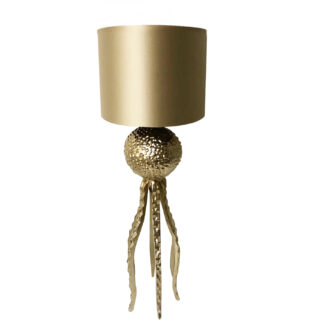 Tischlampe gold Oktopus Tarantel gold in Oktopus Motiv Lampenschirm Monaco gold Luxus Lampe Light and Living