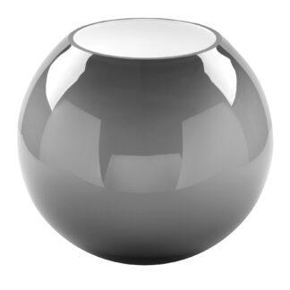 Fink Glasvase Moon grau opal rund bauchige Vase 25 und 20 cm edle Vase Fink Blumenvase Blumentopf Glas grau