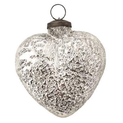 Herz Glasherz Herzaufhänger Aufhänger Herz silber herzlich schön Valentinstag Geschenk Frühling Herzdekoration
