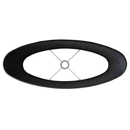 Lampenschirm oval länglich schwarz Samt Velours gerade schmal XXL 58 cm breit edel Luxus Extravaganz Lampenschirm Colmore