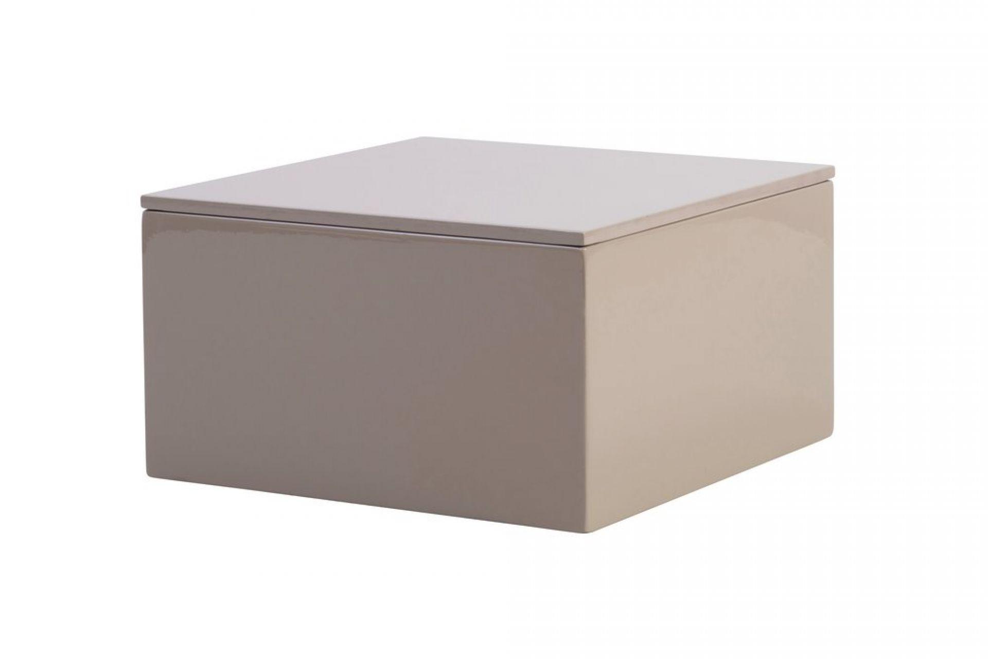 Lack Spa Box für Utensilien mit Deckel sandstone taupe 20 cm ...