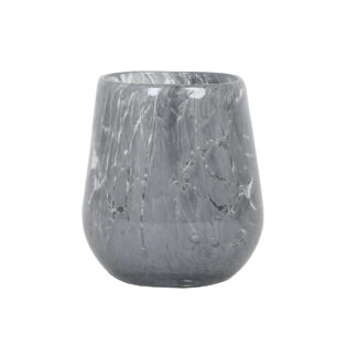 Teelicht Teelichthalter WINDLICHT grau schweres Glas MARMOROPTIK Lichtdekoration Windlicht grau Glas Dekolieblinge